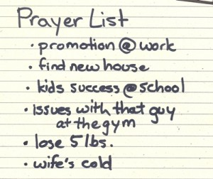 prayer list by Kevin Shorter