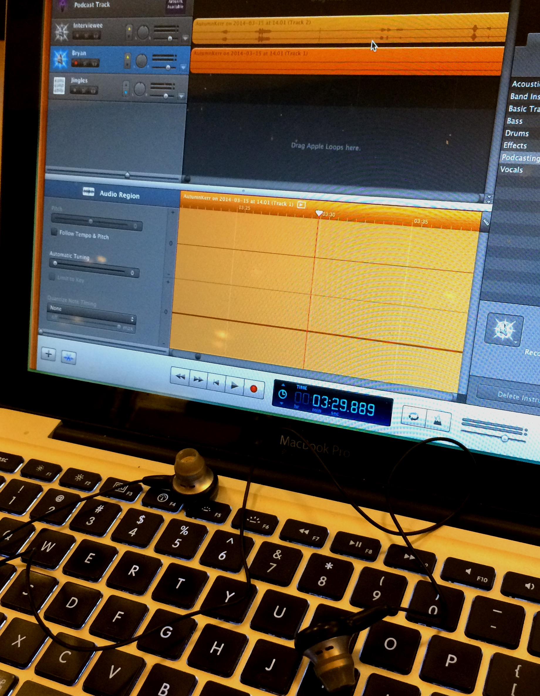 Editing some audio