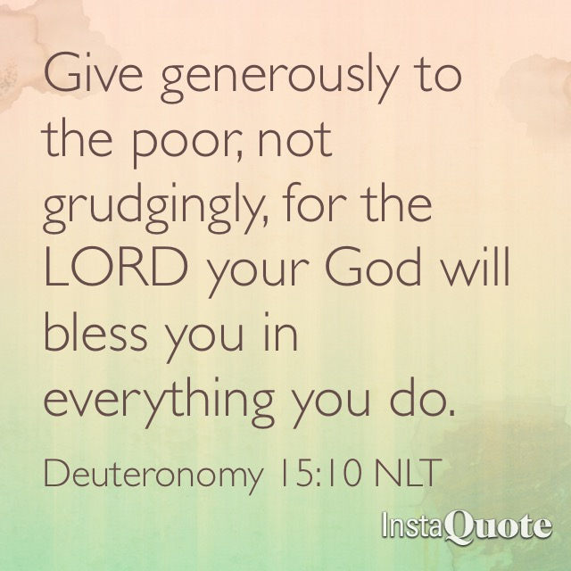 Give to The Poor Quotes Give Generously to The Poor
