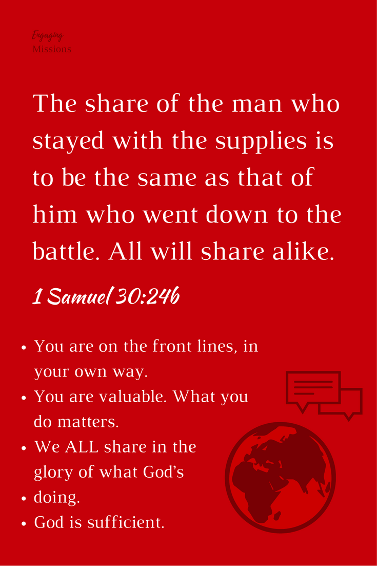 all will share alike 1 samuel 30:24