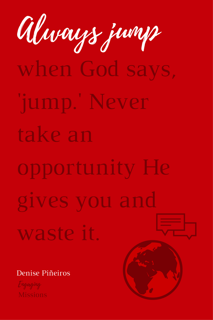 always jump when god says jump.