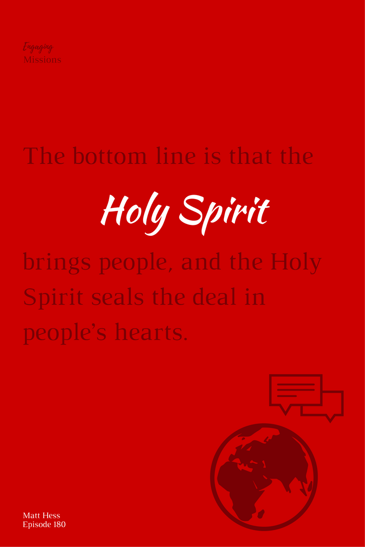 the holy spirit brings people